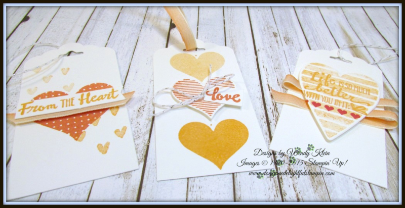 Heart Happiness  Petal Palette  Scallop Tag Topper Punch  Calypso Coral Ombre Ribbon - 2