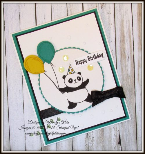 Party Pandas  Birthday Delivery  Scattered Sequins Dynamic TIEF  Layering Ovals  Layering Circles  Bunch of Banners  Shimmer Basic Black Ribbon - 4