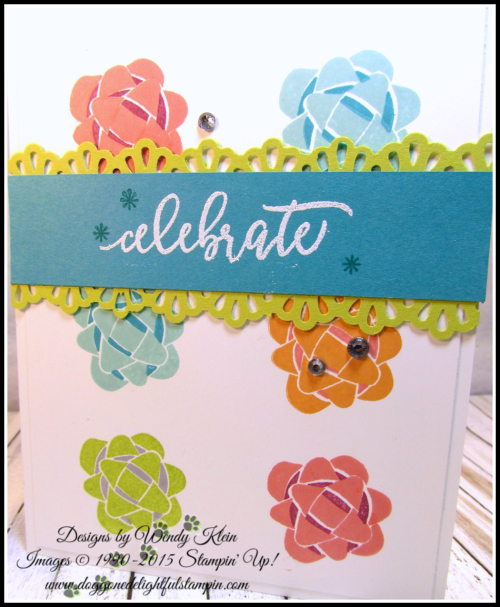 Picture Perfect Birthday  Decorative Ribbon Border Punch  White Stampin' Emboss Powder - 3