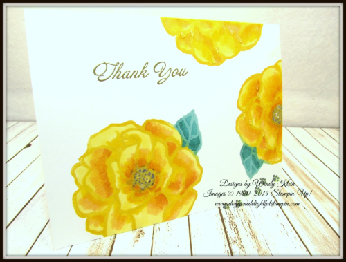 Bold Floral Thank You Card Set - designs by Wendy Klein for Doggone Delightful Stampin - 3