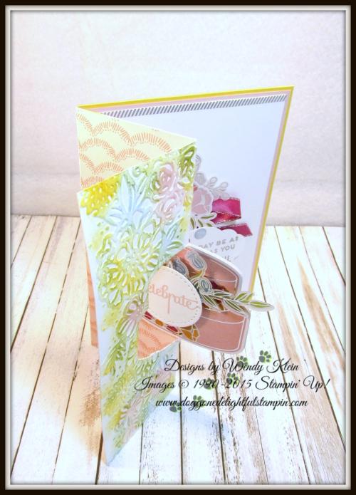 Cake Soiree  Sweet Cake Framelits  Sweet Soiree Embellishments Kit  Petal Pair TIEF  Flip Fold Card - 2