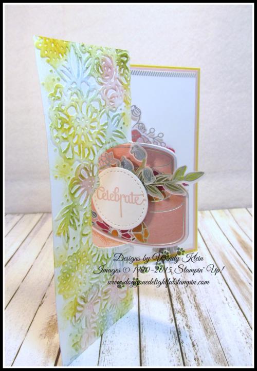 Cake Soiree  Sweet Cake Framelits  Sweet Soiree Embellishments Kit  Petal Pair TIEF  Flip Fold Card - 1