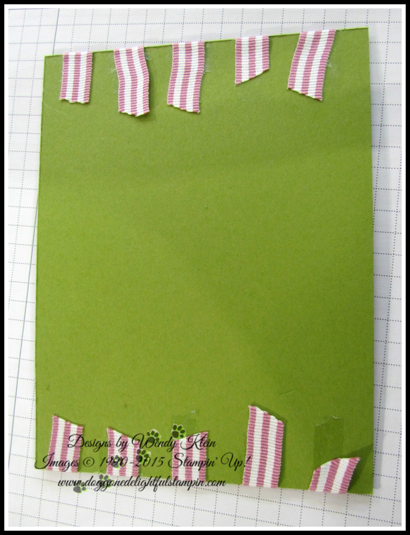 Petal Garden Sweet Sugarplum Ribbon Stripe technique - 2