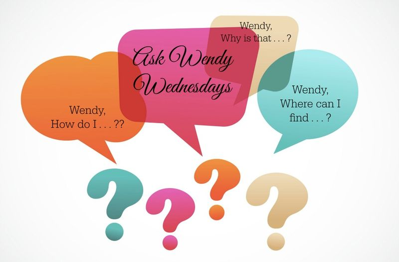 Ask Wendy Wednesdays Blog Header