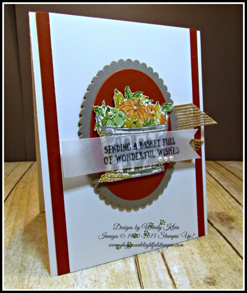Basket of Wishes, Layering Ovals, Burlap Ribbon, Pearls (3)
