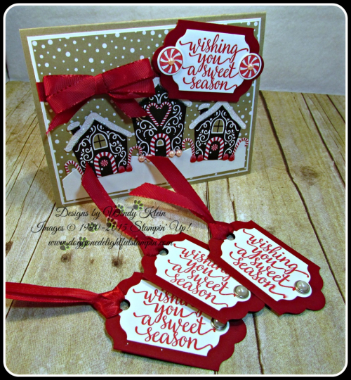Candy Cane Christmas, Candy Cane Lane DSP, Lots of Labels Framelits, Cherry Cobbler Taffeta Ribbon (1)