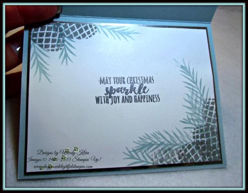 Christmas Pines, Pretty Pines Thinlits, Silver Glitter Ribbon, embossing (8)