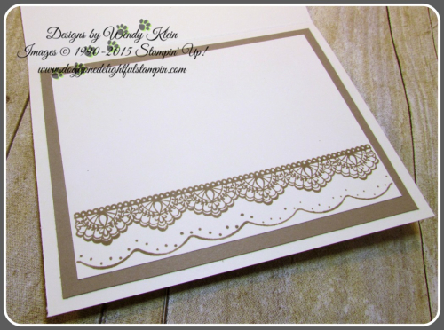 Falling In Love DSP, Sunshine Wishes Thinlits, Love Notes Framelits, Very Vanilla Lace Trim, Stitched Satin Ribbon, and Metallic Ribbon (7)