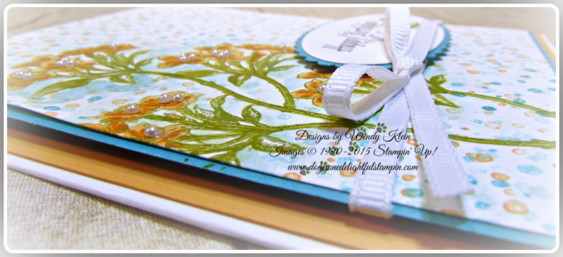 Avant-Garden, Watercolor Pencils, Layering Ovals, Stitched Shapes, Sending Love Whisper White Ribbon (6)