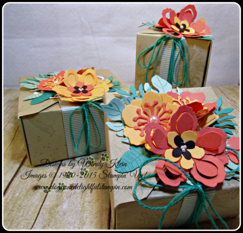 Botanical Blooms & Builders framelits, Touches of Texture, Painters Palette, Gift Box Punch Board (2)