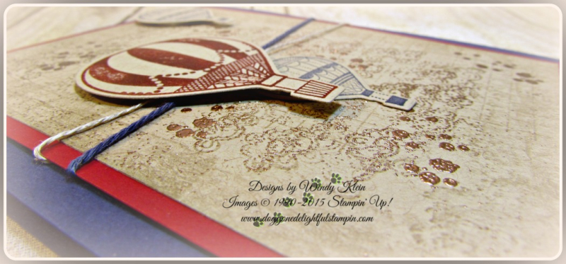 Lift Me Up, Timeless Textures, Up & Away Thinlits, Copper embossing powder, linen thread, Night of Navy bakers twine (5)