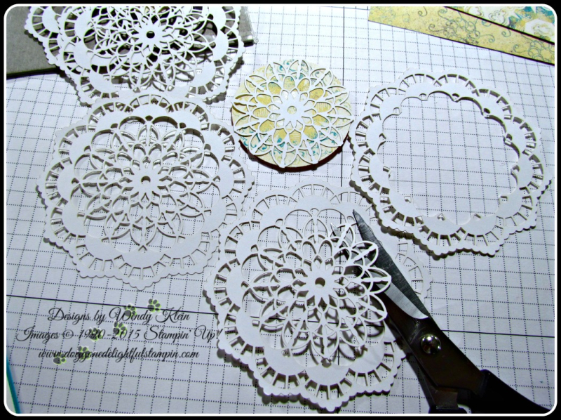 Lace Doily Stampin Technique (2)