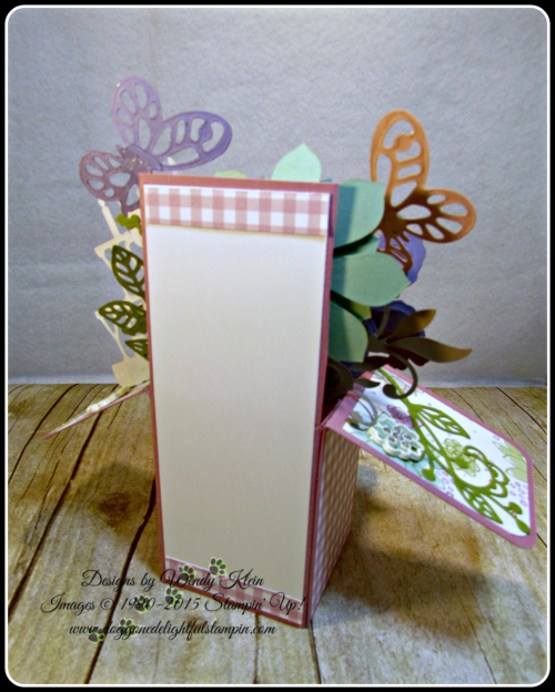 Pop Up Box Card, Succulent Framelits, Botanicals Builder Framelits, Butterfly Framelits, Party Pop-Up Thinlits, Stampin Up, Wendy Klein (6)