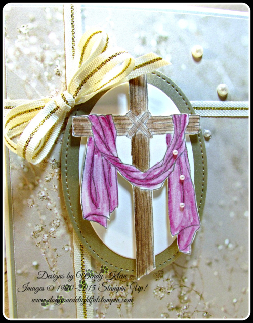 Easter Message  Sending Thoughts  Falling In Love DSP  Layering Ovals  Stitched Shapes framelits  Watercolor Pencils  Wendy Klein  Stampin Up (3)