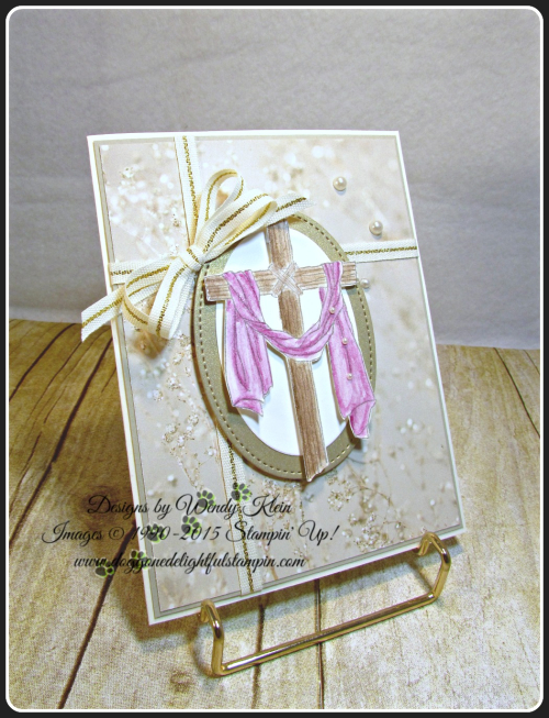 Easter Message  Sending Thoughts  Falling In Love DSP  Layering Ovals  Stitched Shapes framelits  Watercolor Pencils  Wendy Klein  Stampin Up (5)