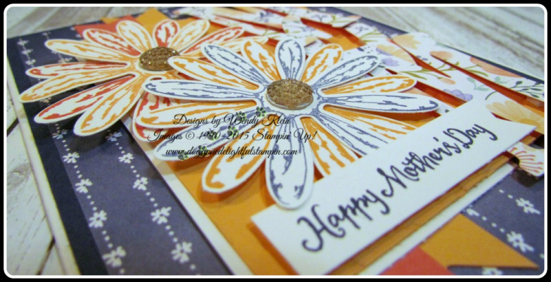 Daisy Delight  Oh So Succulent  Birthday Blossoms  Daisy Punch  Delightful Daisy DSP  Large Letters framelits  Petal Burst TIEF  Gold Faceted Gems (5)