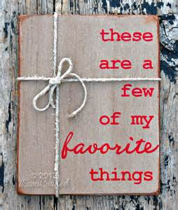These are a few favorite things