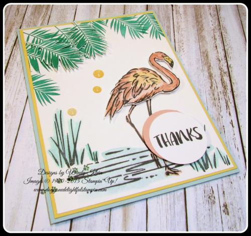 Fabulous Flamingo  Clear Wink of Stella  Glitter Enamel Dots  watercolor (5)