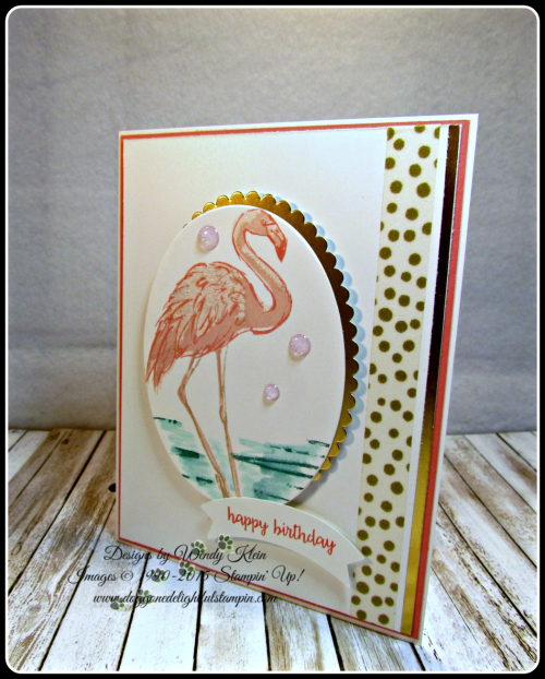 Fabulous Flamingo  Happy Birthday Gorgeous  Layering Ovals framelits  Duet Banner Punch  Glitter Enamel Dots (8)