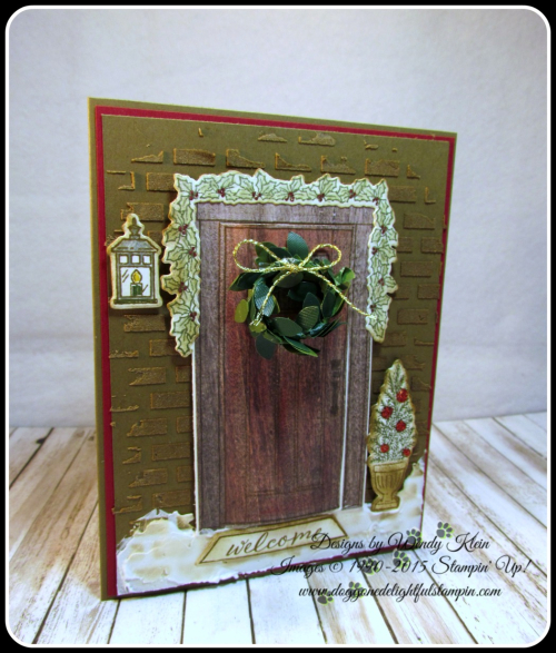 At Home With You  At Home Framelits  Embossing Paste  Wood Textures DSP  Boxwood Wreaths - 1