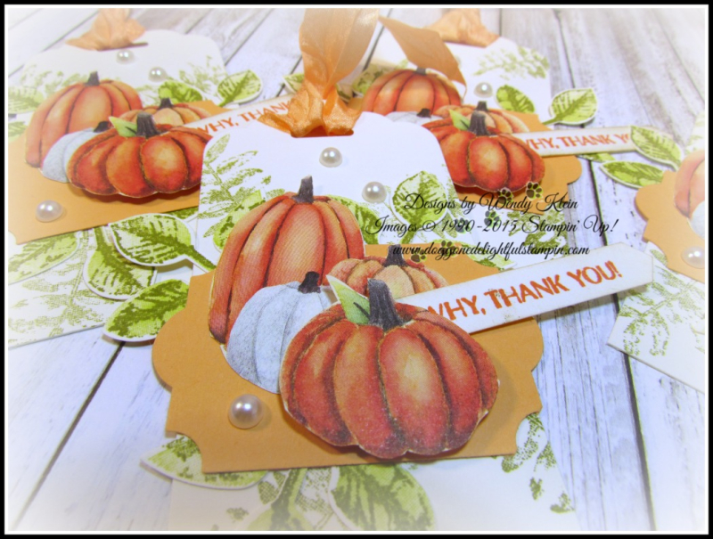 Painted Autumn DSP  Gourd Goodness  Painted Harvest  Everyday Label Punch  Classic Label Punch  Leaf Punch - 4