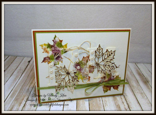 Large Letters Framelits  Colorful Seasons  Seasonal Layers Thinlits  Champagne Foil  Babywipe Technique  stampinup - 1