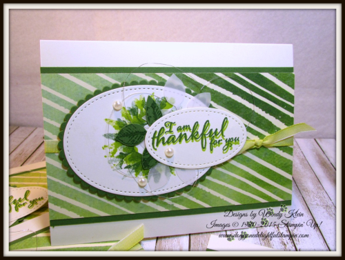 Painted Harvest  Painted Autumn DSP  Leaf Punch  Layering Ovals  Stitched Shapes  Ombre Ribbon - 7