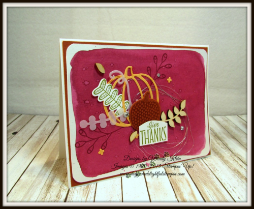 Pick a Pumpkin  Labels to Love  Patterned Pumpkins Thinlits  Touches of Nature Elements  Silver Metallic Thread - 1