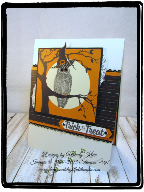 Spooky Cat  Spooky Night DSP  Classic Label Punch  Black Rhinestones  Vintage Crochet Trim - 3