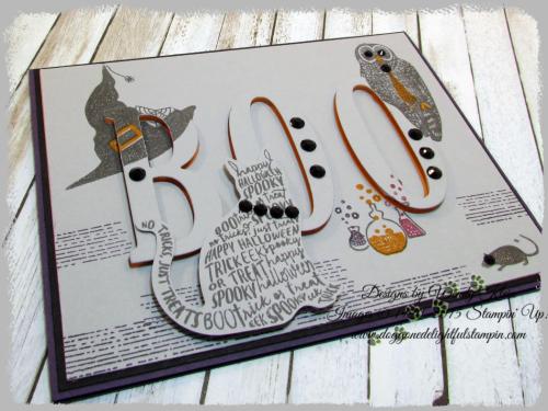 Spooky Cat  Cat Punch  Large Letters Framelits - 5