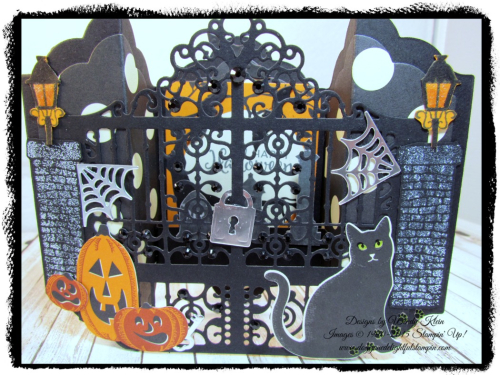 Graveyard Gate  Season to Sparkle  Detailed Gate Thinlits  Lots of Labels framelits  Spooky Night DSP - 3
