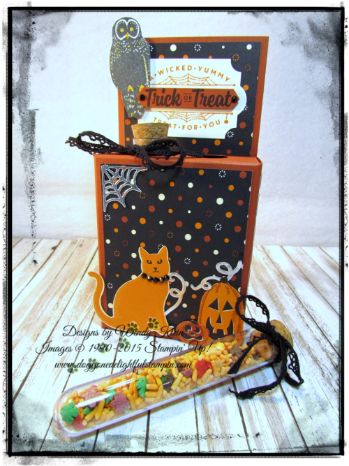 Test Tube Treat Box  Spooky Night DSP  Everyday Label Punch  Classic Label Punch  Vintage Crochet Trim - 2