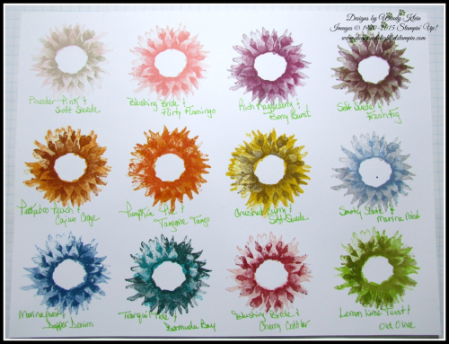 Painted Harvest Sunflower Colorways - Wendy Klein for Doggone Delightful Stampin