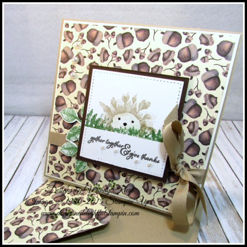 Painted Harvest  Painted Autumn DSP  Leaf Punch  Layering Squares  Stitched Shapes  Pearls - 4