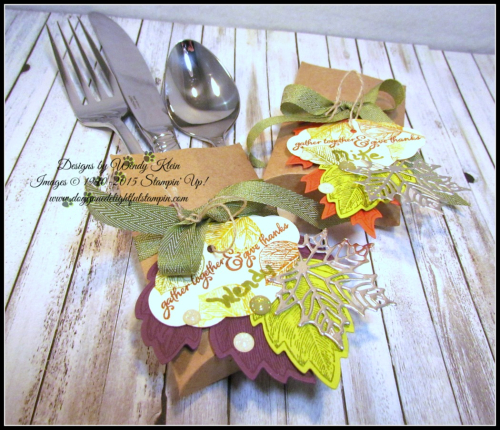 Thanksgiving Placesetting Holder with Trim Your Stocking Thinlits - 5