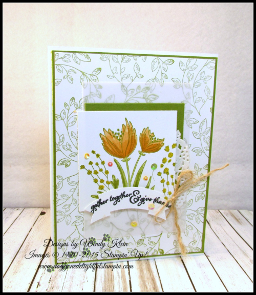 Count My Blessings  Painted Harvest  Duet Banner Punch  Jute Twine  Sequins - 1