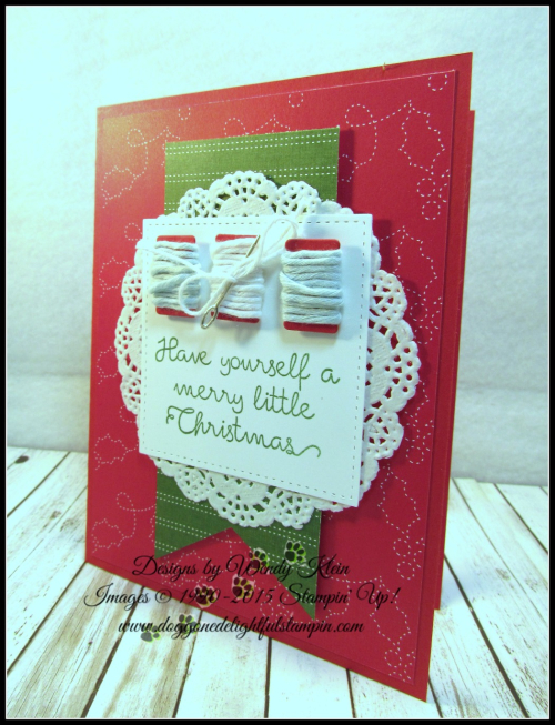 Christmas Quilt  Banner Triple Punch  Detailed Lace Doilies  Stitched Shapes framelits  Quilted Christmas DSP - 2