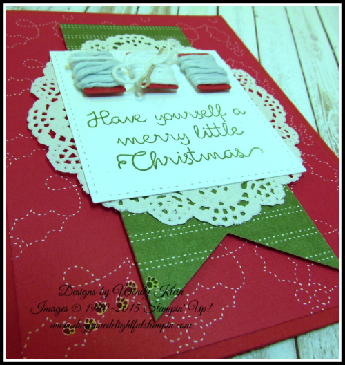 Christmas Quilt  Banner Triple Punch  Detailed Lace Doilies  Stitched Shapes framelits  Quilted Christmas DSP - 4