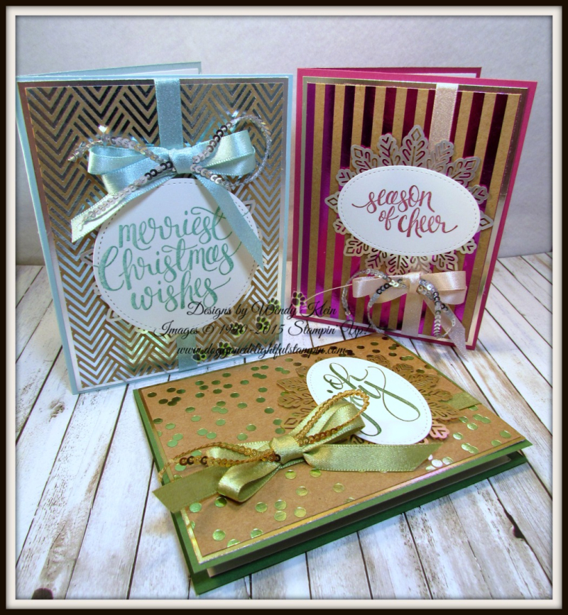 Watercolor Christmas Foil Frenzy card collection - 1