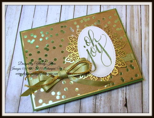 Watercolor Christmas Foil Frenzy card collection - 3