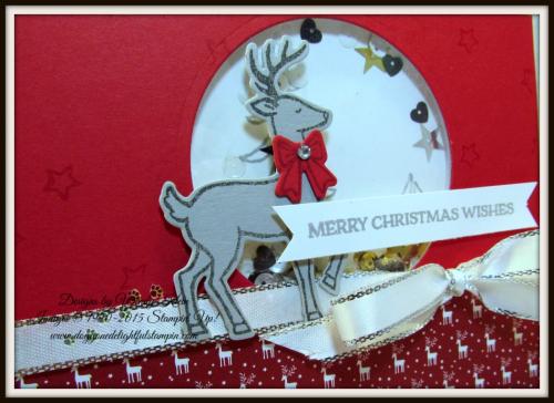 Santa's Sleigh Shaker Card CASE - 2