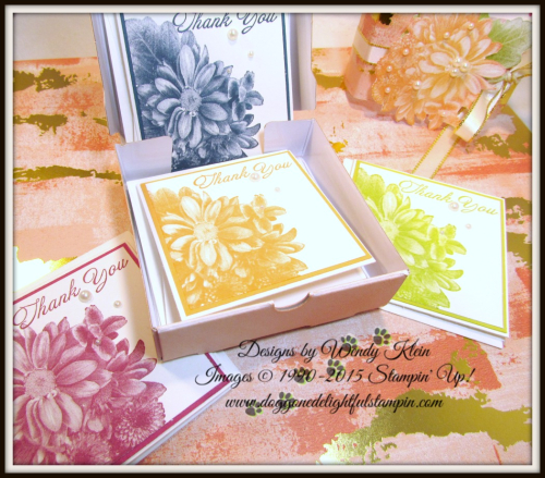 Heartfelt Blooms  Pizza Box  3 x 3 notecards  Painted With Love SDSP - 4