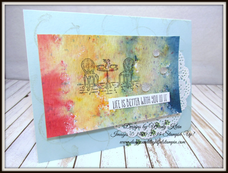 Beautiful Day and Charming Cafe Brusho Crystal Watercolor Feature - 2