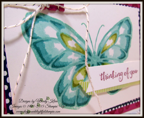 Beautiful Day  Stampin' Blends  Birthday Mini Binder Clips  Silver Baker's Twine  Lemon Lime Twist Mini Striped Ribbon - 2