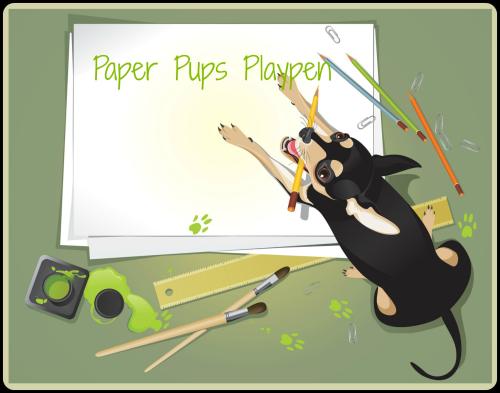 Paper Pups Playpen