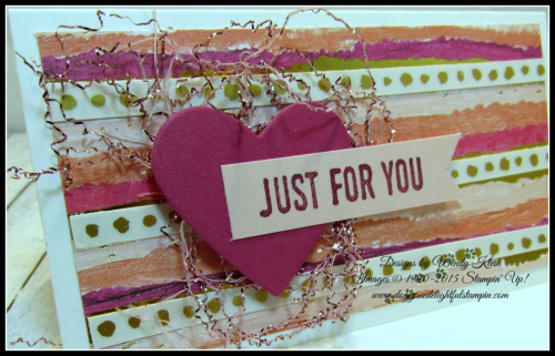 Sure Do Love You  Narrow Note cards & envelopes  Painted with Love SDSP  Sweet & Sassy Framelits  Love Mini Tinsel Trim - 2