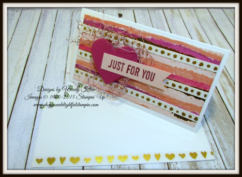 Sure Do Love You  Narrow Note cards & envelopes  Painted with Love SDSP  Sweet & Sassy Framelits  Love Mini Tinsel Trim - 3
