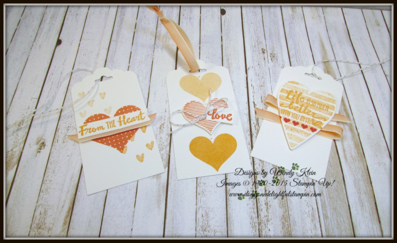 Heart Happiness  Petal Palette  Scallop Tag Topper Punch  Calypso Coral Ombre Ribbon - 1