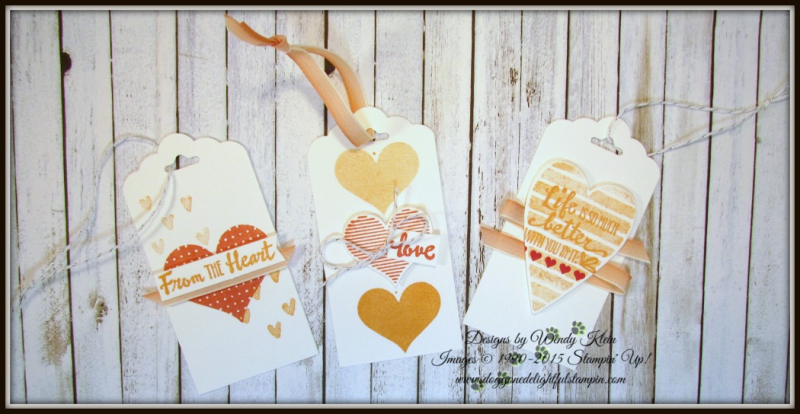 Heart Happiness  Petal Palette  Scallop Tag Topper Punch  Calypso Coral Ombre Ribbon - 3
