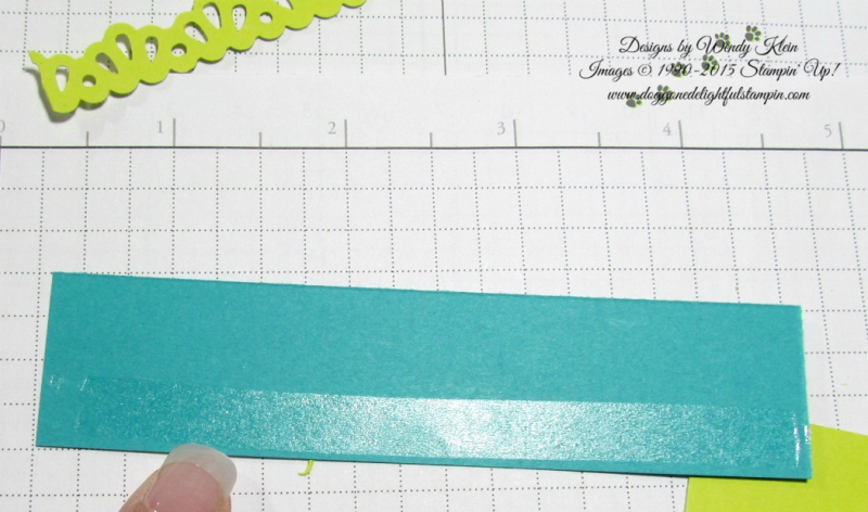 Making a border for the Picture Perfect Birthday card - by Wendy Klein for Doggone Delightful Stampin 2